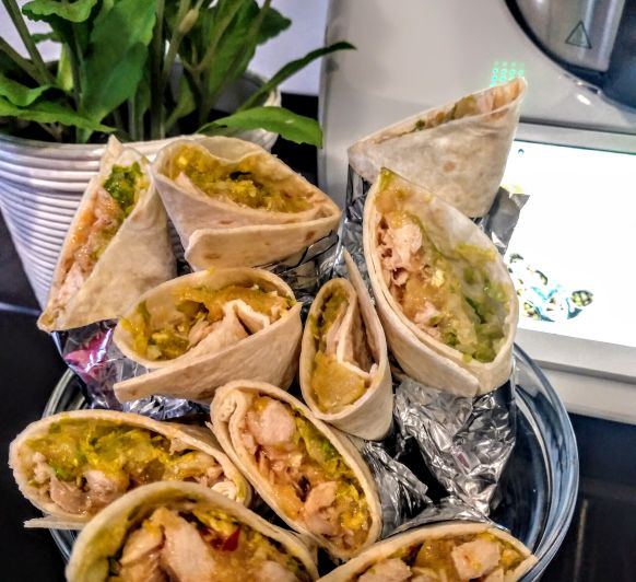 Wraps de pollo con pilla