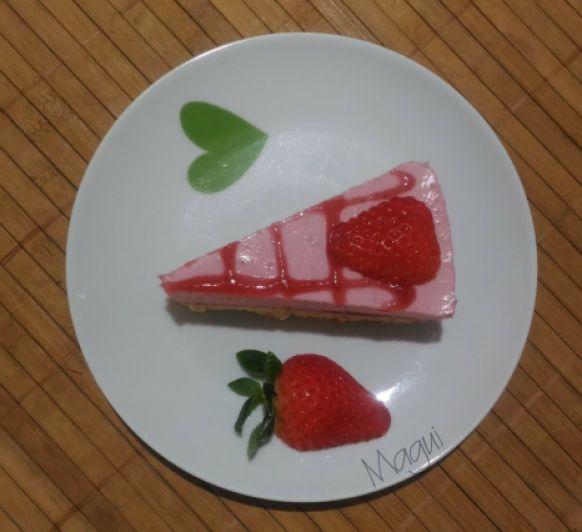 Tarta de fresas sin lactosa