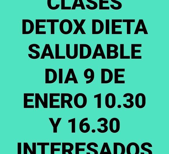 CLASES DETOX DIETA SALUDABLE