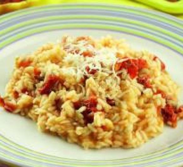 Risotto de tomates secos y parmesano